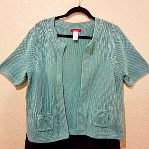 Ann Klein Short Sleeve Knit Cardigan